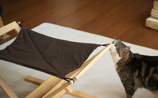 古いハンモックの使い方。 How to use the old hammock.